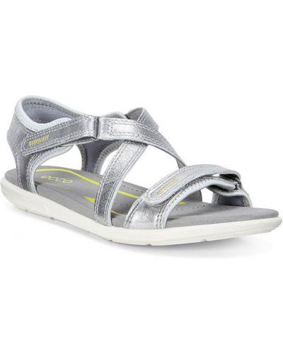 Спортивные сандалии на каблуке песочный Ecco