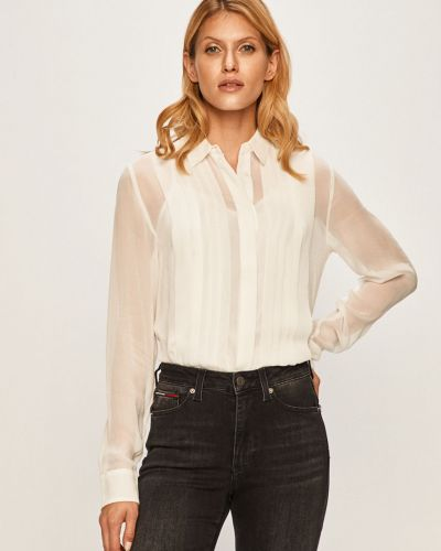 Блузка с длинным рукавом однотонная из вискозы Pepe Jeans