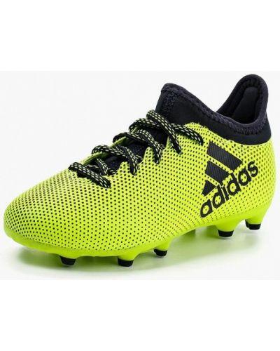 Бутсы желтый кожаный Adidas