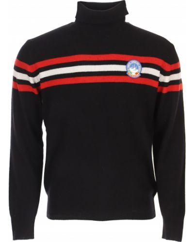 Czerwony z kaszmiru sweter w paski Mc2 Saint Barthelemy