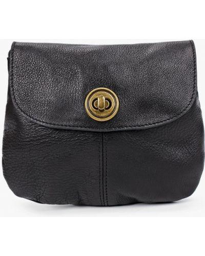 Черная сумка из натуральной кожи Pieces