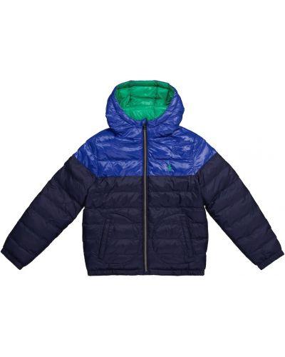 Niebieski płaszcz z nylonu Polo Ralph Lauren Kids