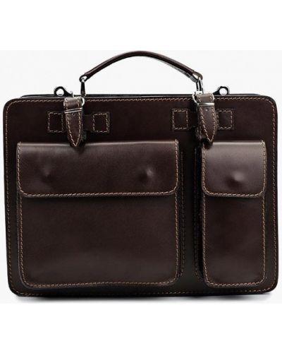 Кожаный портфель - коричневый Roberta Rossi
