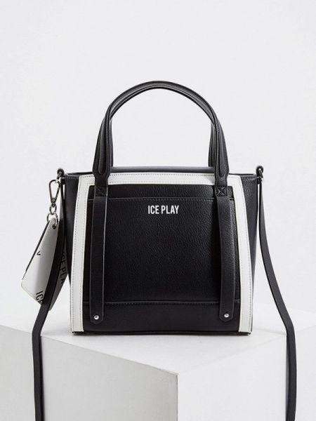 Кожаная сумка с ручками черная Ice Play