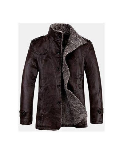 Черная кожаная куртка Newchic