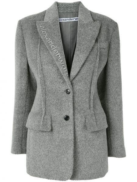 Классический пиджак в полоску с вышивкой Alexander Wang