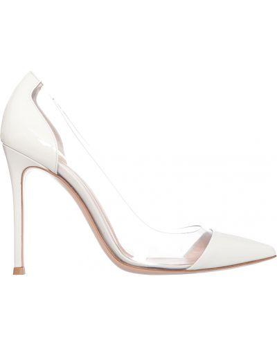 Кожаные туфли - белые Gianvito Rossi