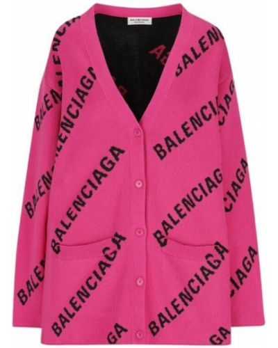 Kardigan - różowy Balenciaga