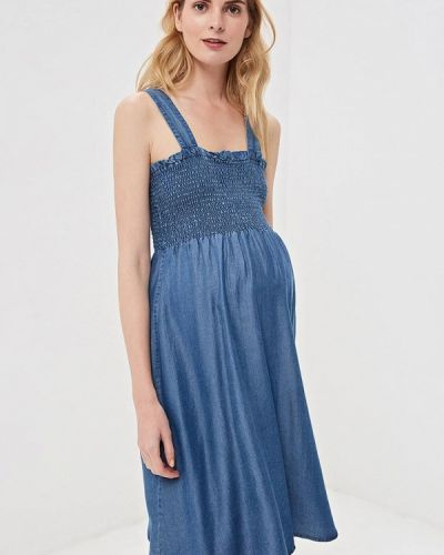 Сарафан для беременных синий Mama.licious