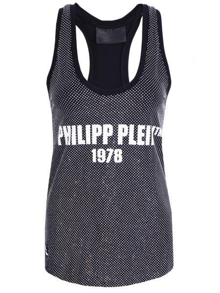 Футболка черная футбольный Philipp Plein