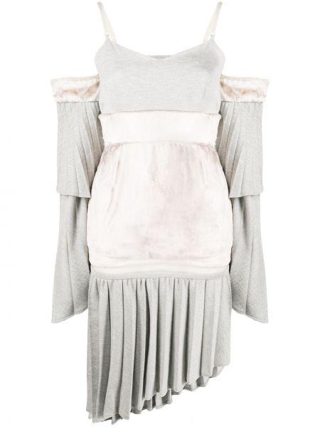 Платье миди пэчворк с V-образным вырезом Atu Body Couture