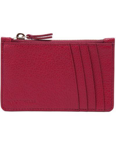 Розовый кожаный кошелек Coccinelle