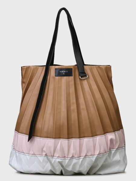 Кожаная сумка - коричневая Beatrice.b