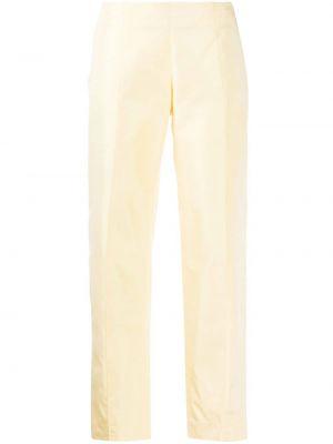 Желтые прямые укороченные брюки с поясом на пуговицах Emilio Pucci Pre-owned
