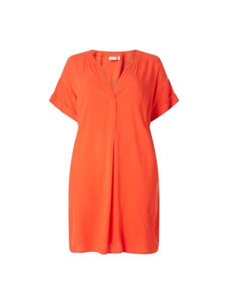 Sukienka mini krótki rękaw rozkloszowana z wiskozy Junarose