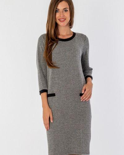 Повседневное платье серое осеннее S&a Style