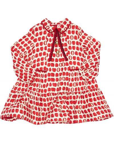 С рукавами красное платье макси с подкладкой Mi.mi.sol.
