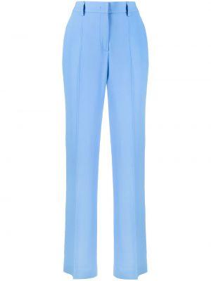 Синие с завышенной талией брюки свободного кроя Alberta Ferretti