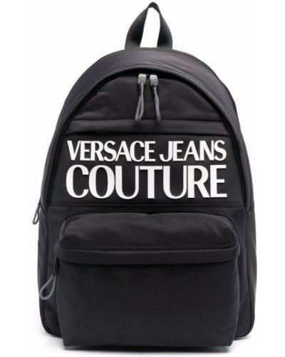Plecak z printem - biały Versace Jeans Couture