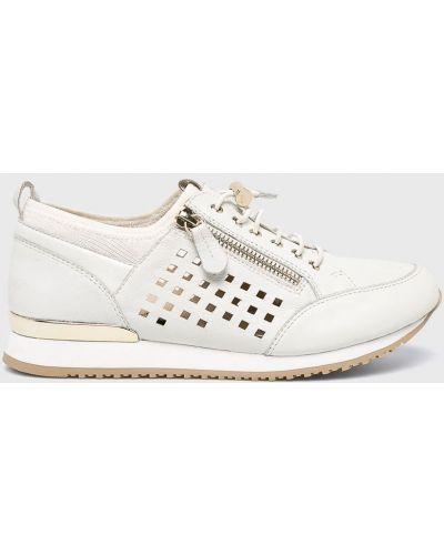 Кожаные кроссовки серые светло-серый Caprice