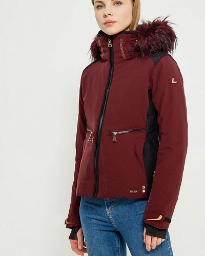 Горнолыжная куртка осенняя бордовый Luhta