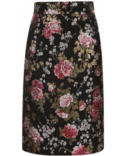 Черная юбка с принтом Dolce & Gabbana