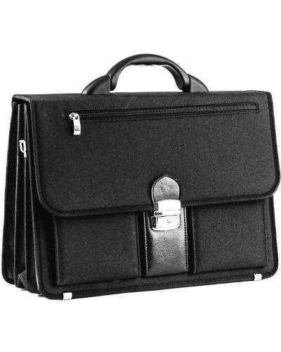 Кожаный портфель - черный Amo