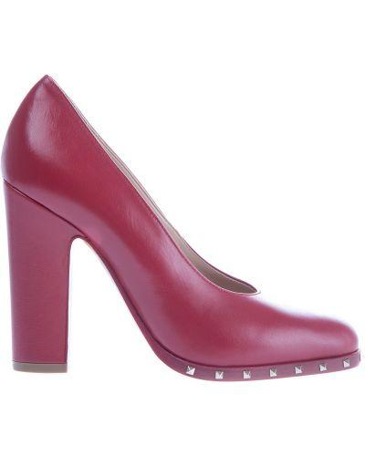 Туфли на каблуке кожаные Valentino