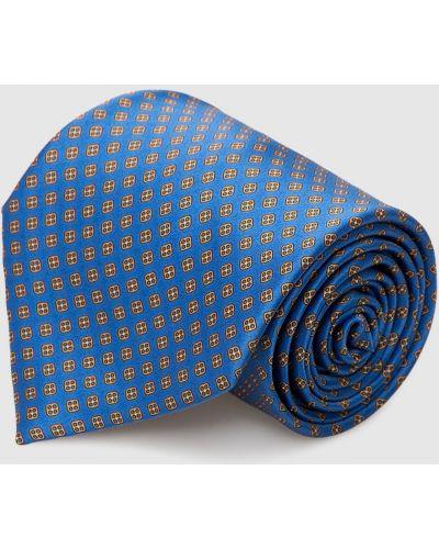Шелковый синий галстук Stefano Ricci