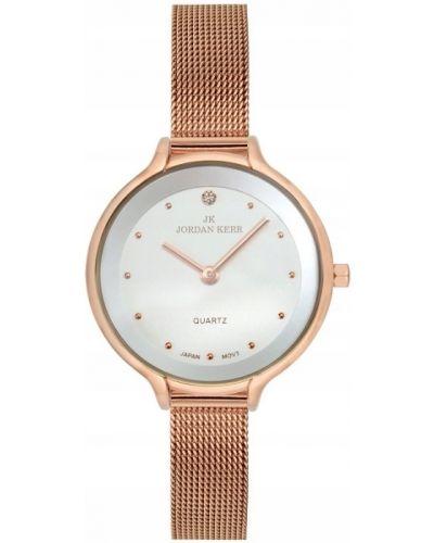 Biały złoty zegarek elegancki Jordan Kerr
