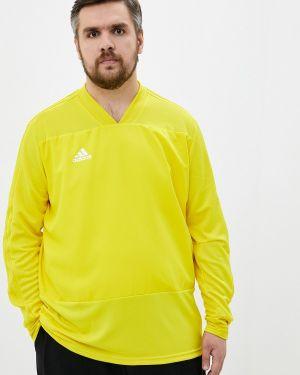 Желтая спортивная футболка Adidas