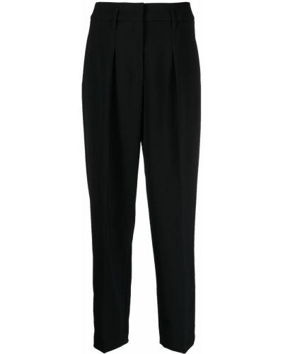 Черные с завышенной талией брюки с карманами Luisa Cerano
