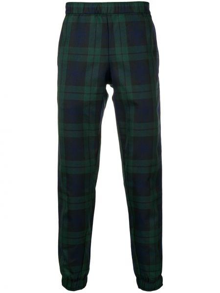 Зеленые шерстяные брюки с поясом с манжетами Astrid Andersen