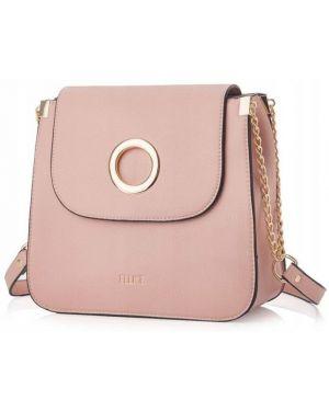 Różowa torebka crossbody skórzana elegancka Felice