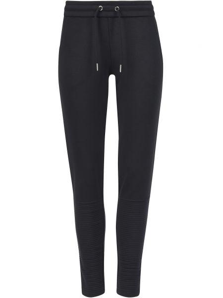 Спортивные брюки из полиэстера - черные Ea7 Emporio Armani