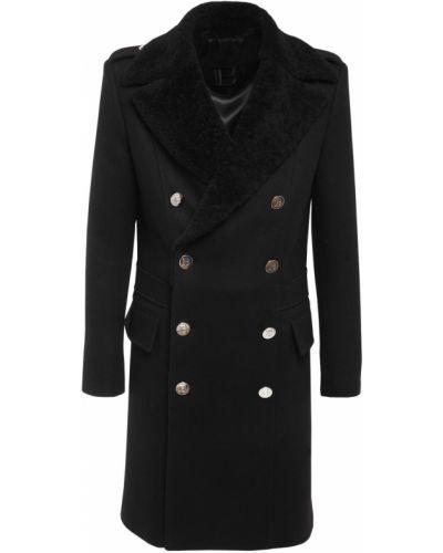 Шерстяная классическая куртка с поясом с манжетами Balmain