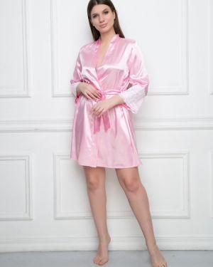 С рукавами повседневный розовый пеньюар Belluche