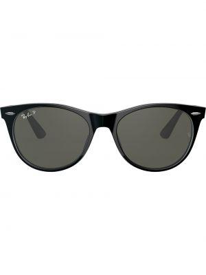 Прямые черные солнцезащитные очки круглые Ray-ban