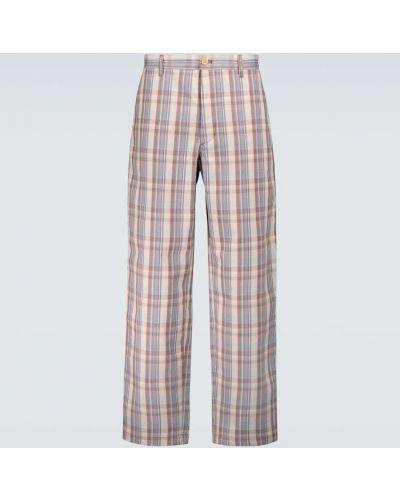 Spodnie z haftem - fioletowe Acne Studios