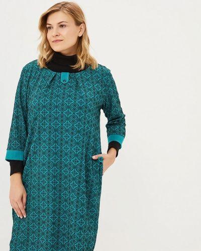 Платье осеннее зеленый Prewoman