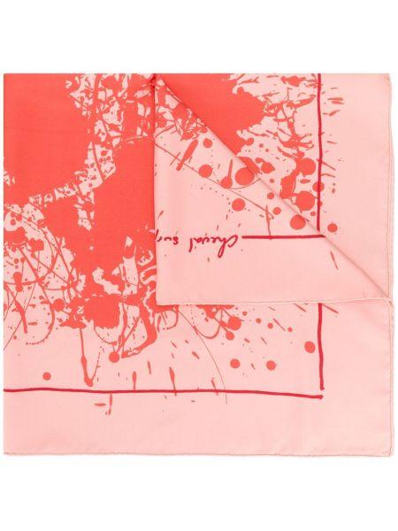 Розовый шарф Hermès Pre-owned