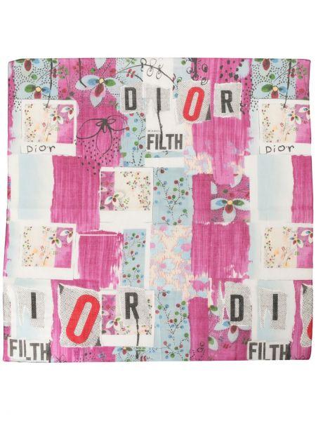 Bawełna bawełna szalik przycięte wzór w kwiaty Christian Dior