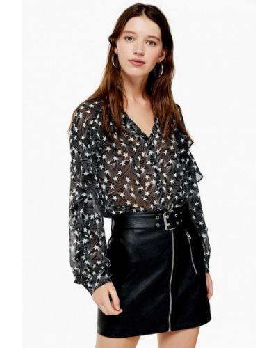 Блузка с длинным рукавом турецкий черная Topshop