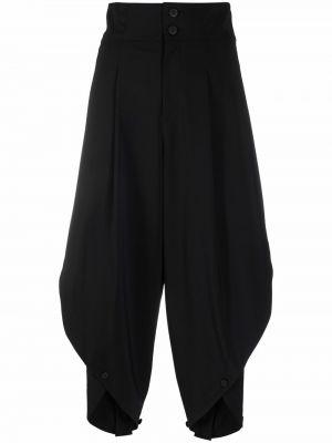 Spodnie z wysokim stanem - czarne Issey Miyake
