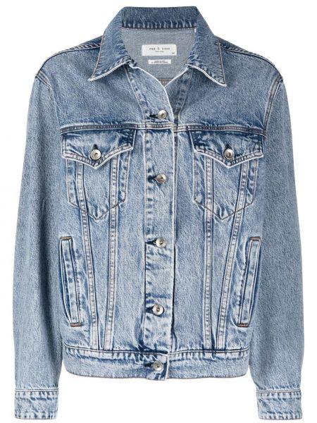 Ватная синяя джинсовая куртка с воротником Rag & Bone