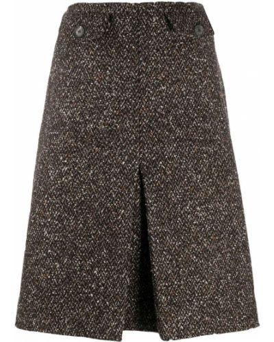 С завышенной талией юбка твидовая с карманами Victoria Beckham