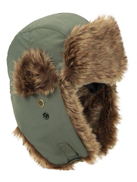 Zielona czapka z futerkiem Mountain Warehouse