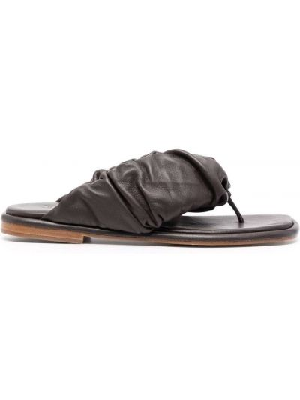 Brązowe sandały skórzane Hereu