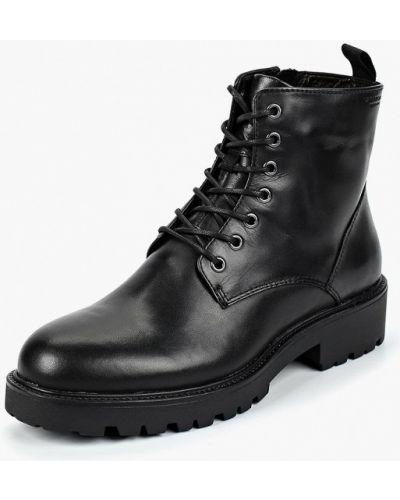 Кожаные ботинки осенние на каблуке Vagabond