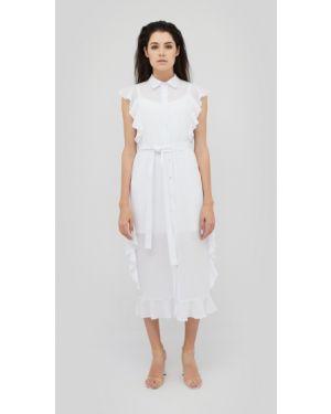 Приталенное платье миди с карманами Cardo